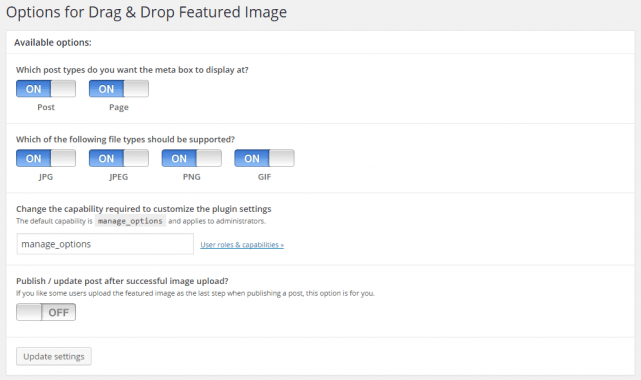 Drag & Drop Featured Imageの設定