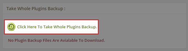 Click Here To Take Whole Plugins Backup