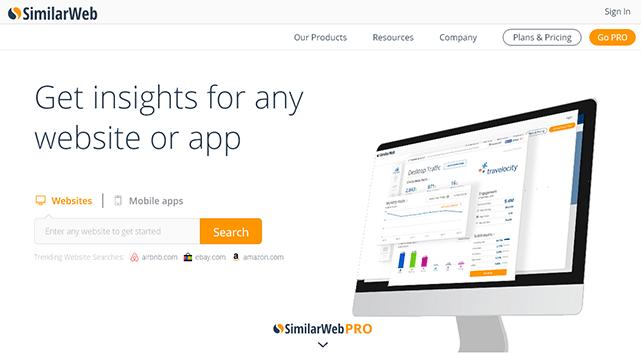 競合サイトを丸裸に!URLを入力するだけでサイトのアクセス数などを確認することができる「Similar Web」
