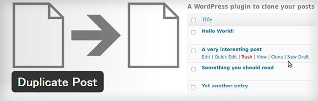 過去の記事を複製できるようになるWordPressプラグイン「Duplicate Post」