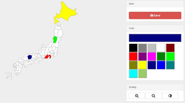 地図の色塗り