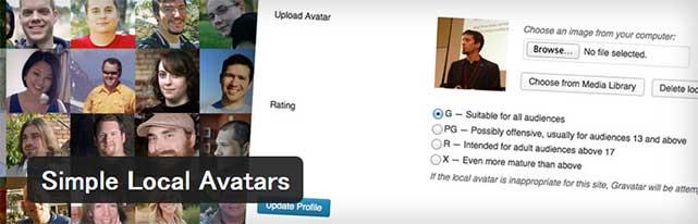 各ユーザー毎にアバター画像を設定することができるWordPressプラグイン「Simple Local Avatars」