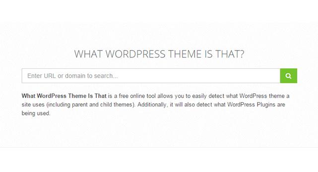 WordPressサイトで適用されているテーマを調べることができる「What WordPress Theme Is That?」