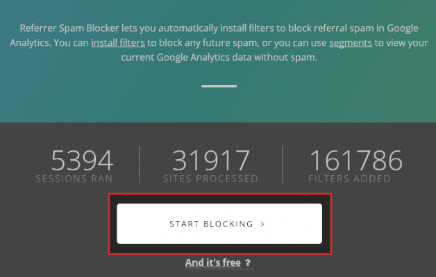 START BLOCKING