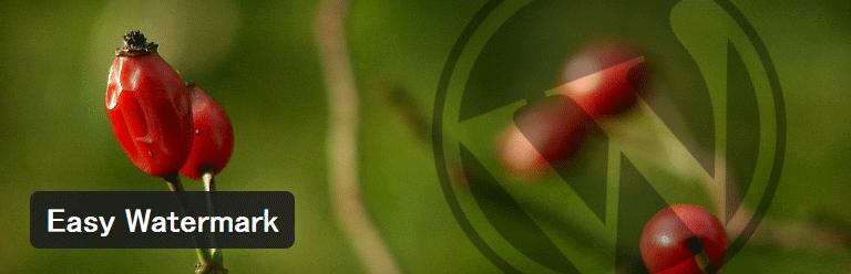 画像に透かしを入れることができるWordPressプラグイン「Easy Watermark」
