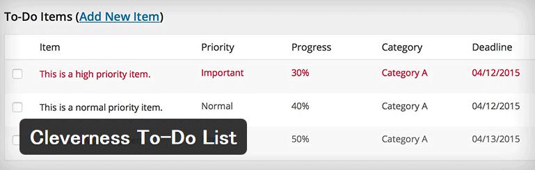 ダッシュボードでToDoリストを管理することができるWordPressプラグイン「Cleverness To-Do List」