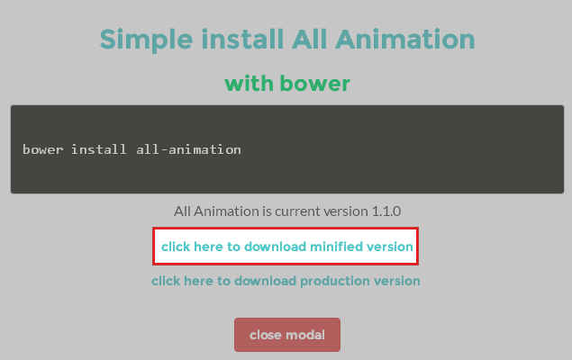 ALL ANIMATION CSS3のダウンロード