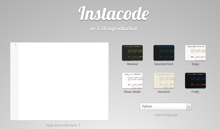 プログラムコードを画像に変換することができるWEBサービス「Instacode」