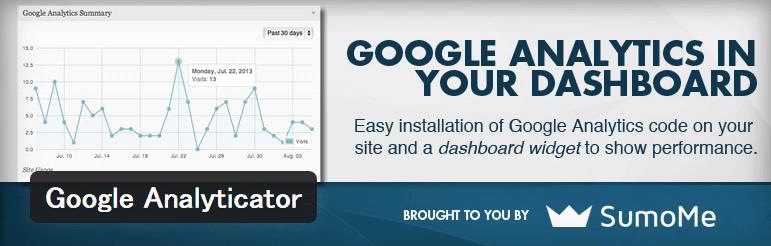 Googleアナリティクスと連携してダッシュボードにレポートを表示するWordPressプラグイン「Google Analyticator」