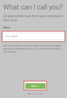 名前の入力