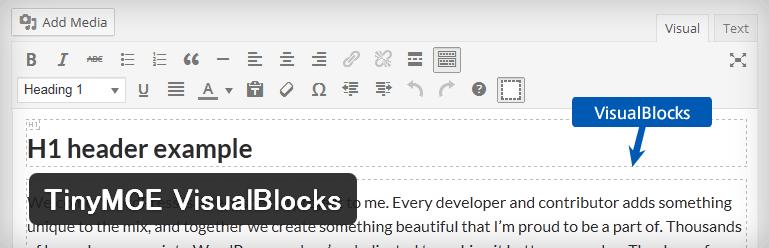 ビジュアルエディタでHTML構造をわかりやすく表示してくれるWordPressプラグイン「TinyMCE VisualBlocks」
