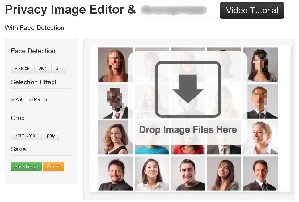 自動検出して写真の顔部分にモザイクを入れてくれるWEBサービス「Facepixelizer」