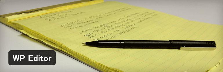 テーマやプラグインの編集エディタを変更することができるWordPressプラグイン「WP Editor」