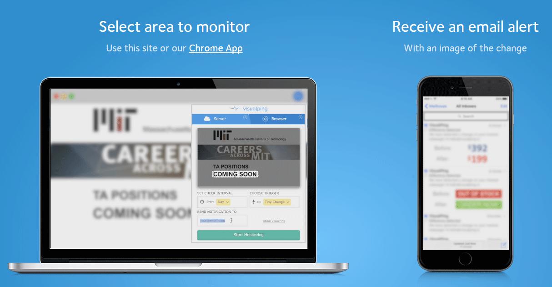 サイトの見た目を監視して変更されたら通知してくれるWEBサービス「Visual Ping」