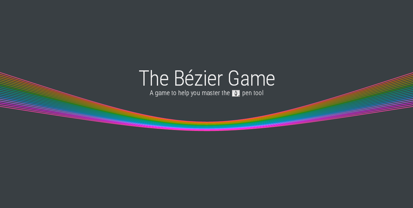 ベジェ曲線を描く練習ができるゲーム「The Bézier Game」