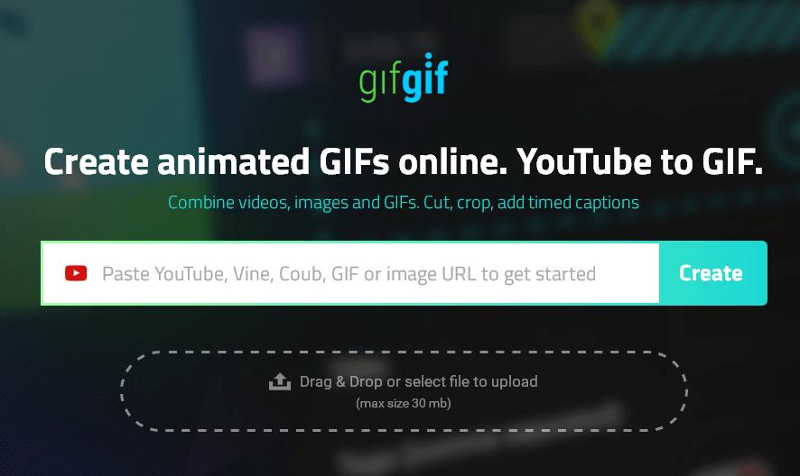 YouTubeやVineからGIFアニメを作成することができるWEBサービス「GIFGIF.io」