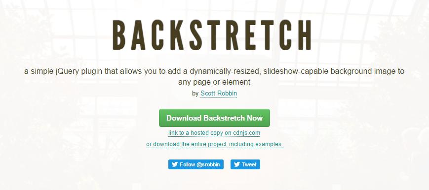 全画面もしくは指定した要素全体に背景画像を表示することができるjQueryプラグイン「BACKSTRETCH」