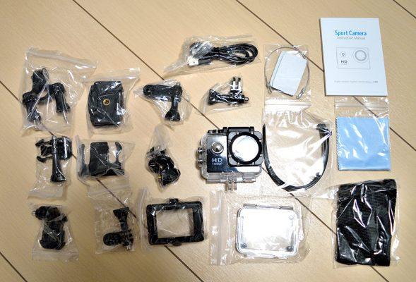 Qtuoアクションカメラのアクセサリー