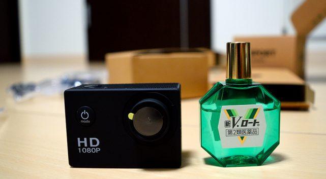 Qtuoアクションカメラ大きさの比較