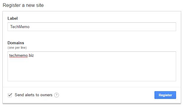 reCAPTCHAのAPI登録