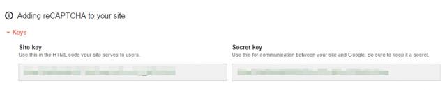 Site keyとSecret key