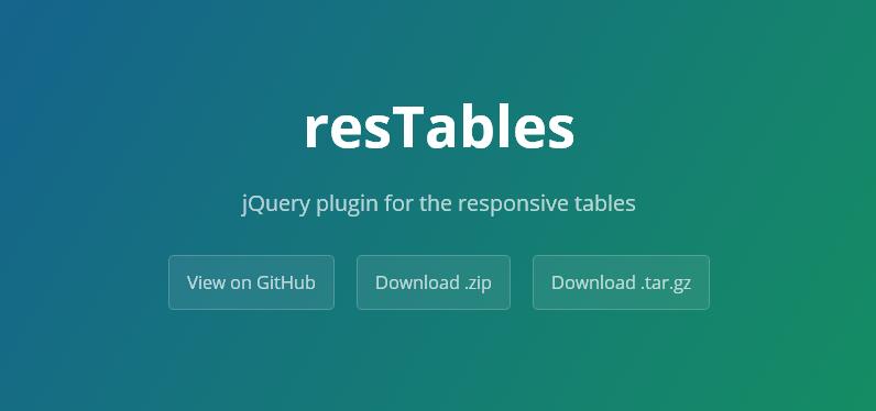 テーブルをレスポンシブ対応にしてくれるjQueryプラグイン「resTables」
