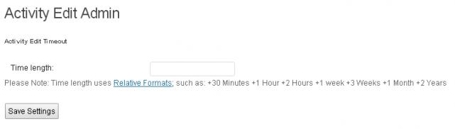BuddyPress Edit Activity Streamの設定