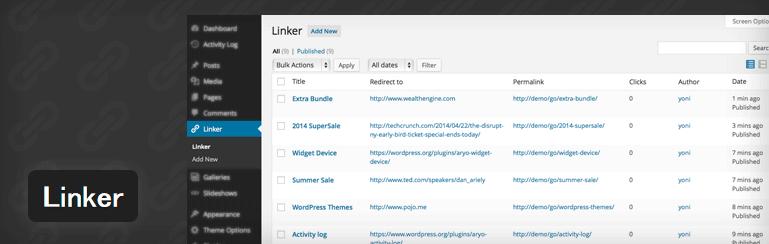 管理画面上で短縮URLの作成・管理ができるWordPressプラグイン「Linker」