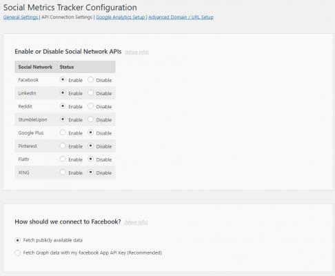 API Connection Settings
