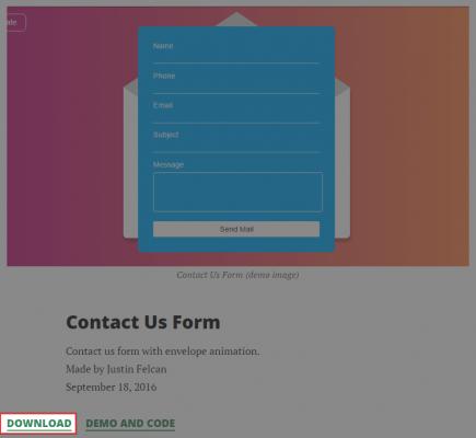 HTMLとCSSのダウンロード