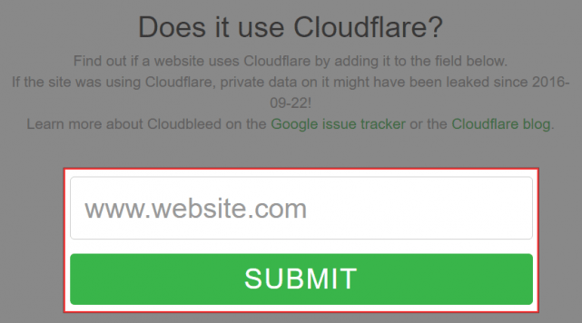 Does it use Cloudflare?の使い方