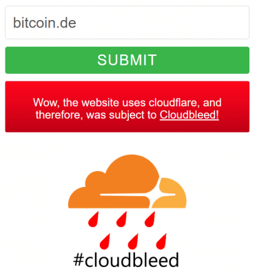 Wow, the website uses cloudflare, and therefore, was subject to Cloudbleed!