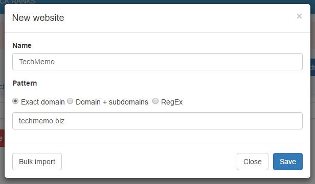 Webサイトの登録