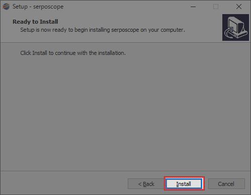 Serposcopeのインストール
