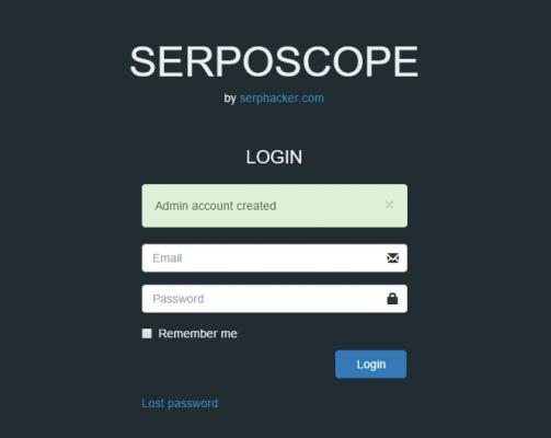 Serposcopeへのログイン