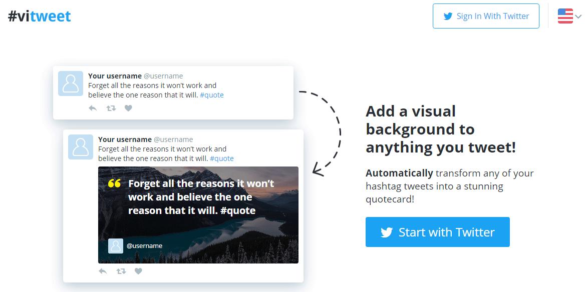 Twitterのツイート内容に合った画像を自動で追加してくれるWEBサービス「#vitweet」