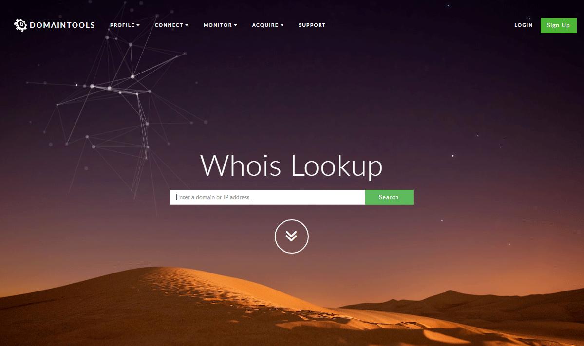 指定したドメインのWhois情報をチェックできるWEBツール「Whois Lookup」