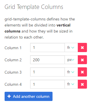 Grid Template Columns