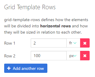 Grid Template Rows
