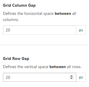 Grid Column GapとGrid Row Gap