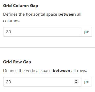 Grid Column GapとGrid Row Gap