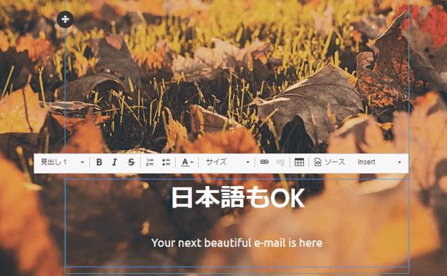 HTMLメールの編集