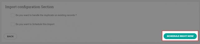 CSVファイルのインポート開始
