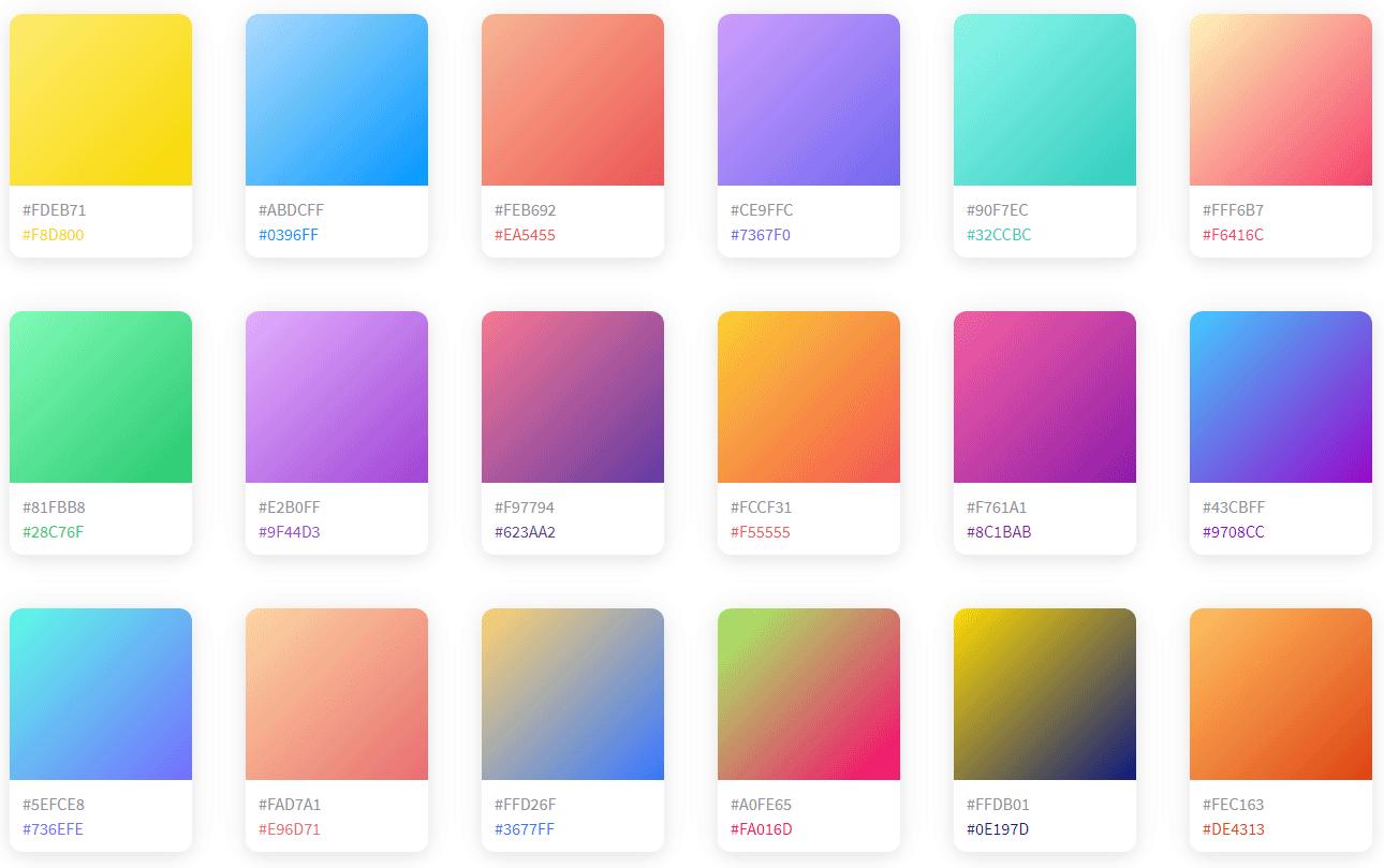 CSSのコピーや画像ダウンロードも可!美しいグラデーションがまとめられている「coolhue」