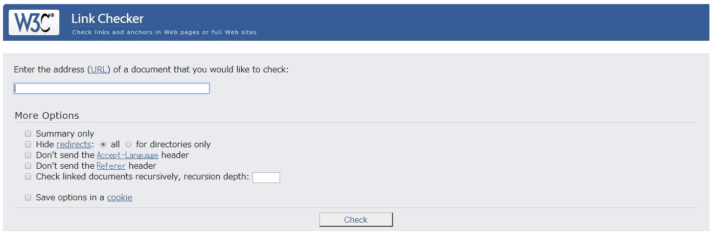 サイトのリンク切れをチェックできるWEBサービス「W3C Link Checker」