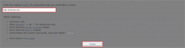W3C Link Checkerの使い方
