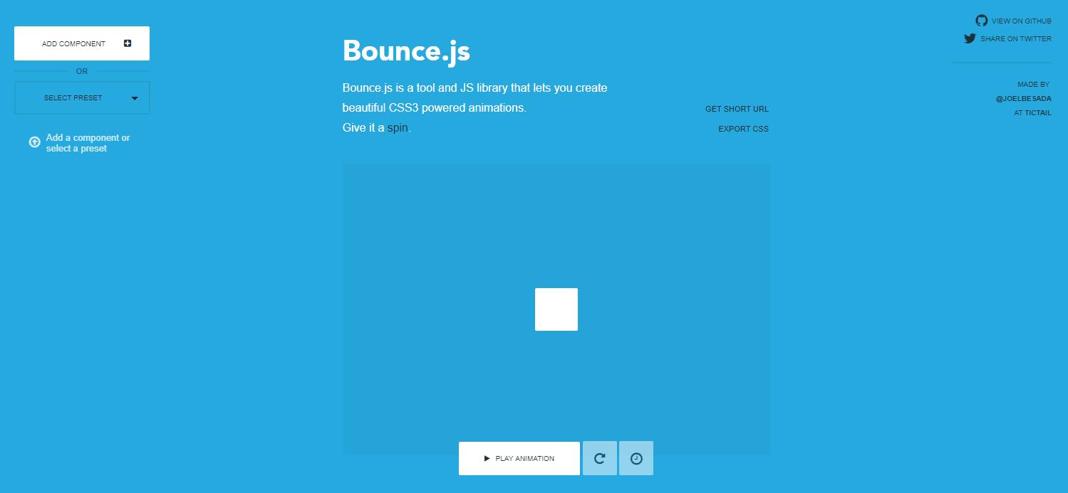 まるでアニメのような動きのCSSアニメーションが簡単に作成できる「Bounce.js」