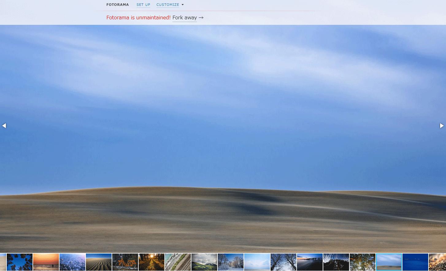 簡単にサムネイル付きのスライダーを設置できるjQueryプラグイン「Fotorama」