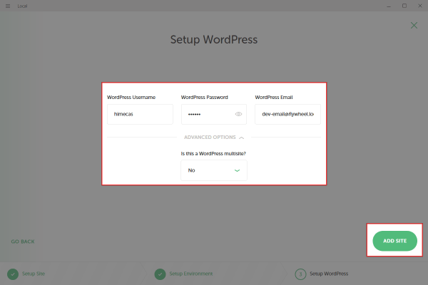WordPressのユーザー名とパスワードを設定