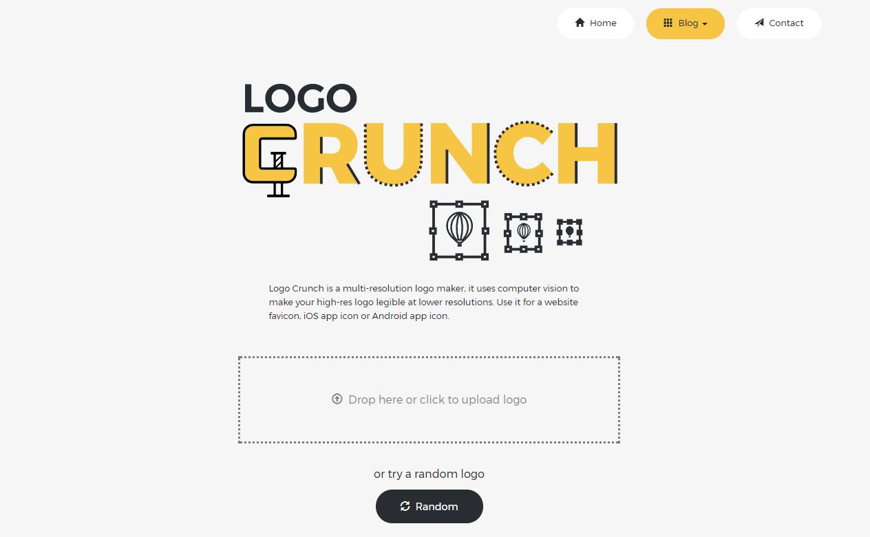 アップロードした画像を色んなサイズに変更してくれるWEBサービス「Logo Crunch」